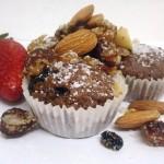 מאפינס שוקולד ופירות יבשים