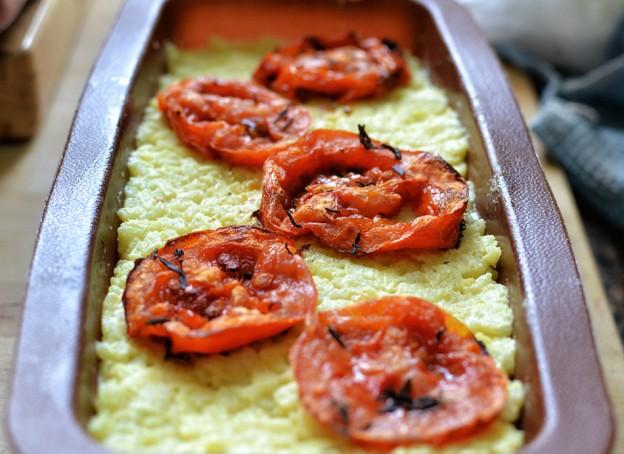פשטידת אורז עם עגבניות צלויות