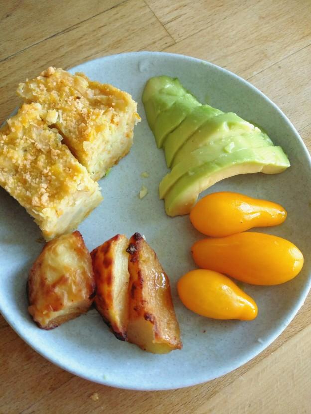 פשטידת דלעת וכרישה, ירקות